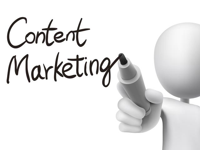 content marketing written by 3d man